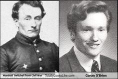 look alikes - Civil War soldier and Conan O'Brien