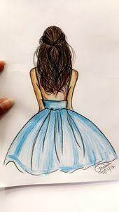 Per art❤️❤️ – Art Sketches Hipster Drawings, Cool Art Drawings, Pencil Art Drawings, Easy Drawings, Girl Drawing Sketches, Illustration Sketches, Girl Sketch, Manga Drawing, Art Illustrations