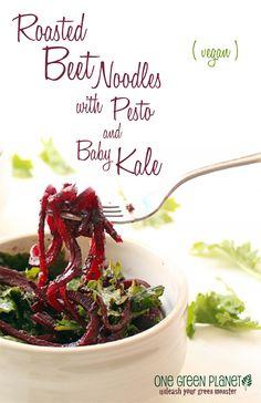 http://onegr.pl/1u3Nssj #vegan #vegetarian #beet #pesto #kale