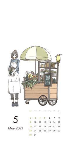 Calendar Wallpaper, Anime Scenery Wallpaper, Cute Cartoon Wallpapers, Journal, Twitter, Design
