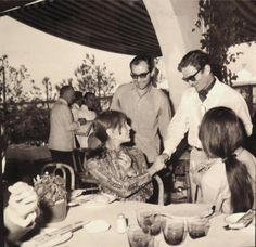 Pier Paolo Pasolini, Anne Wiazemsky, and Jean-Luc Godard.