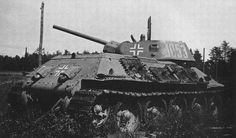 A T-34/76 that may have been assigned to the 61st infantry division