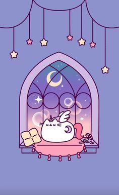 Unicorn Wallpaper Cute, Cat Wallpaper, Kawaii Wallpaper, Iphone Wallpaper, Cute Wallpaper Backgrounds, Cute Cartoon Wallpapers, Cute Animal Drawings Kawaii, Kawaii Cat, Fox Art
