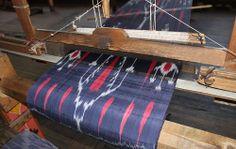 ikat weaving in Uzbekistan,,,