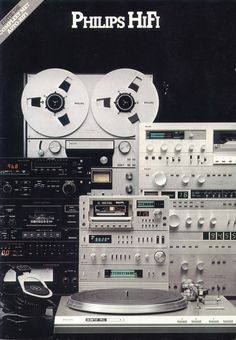 Brochure 1981  The solid built years! The mini system seen here was made in Japan. Full metal housing. Also including a pre-amplifier! Lost my cassette deck while under repair (as the shop in town closed overnight)