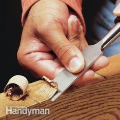 How to Use a Wood Chisel. Tips for sharpening and using a chisel, one of the carpenter's basic tools.