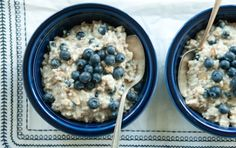 Cooking rye flakes with steel-cut oats lends creaminess to this typically chewy oatmeal.