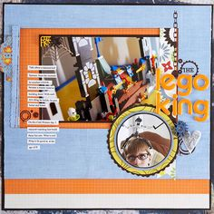 Design by Heidi Sonboul Found objects make great embellishments. The plastic pieces provide a fun photo corner and additional accent for this page. Editor's Tip: Some found objects can be lumpy, so be careful not to overstuff layouts if they're going to be put in albums.  SOURCES: Cardstock: Bazzill Basics Paper, GCD Studios. Patterned paper: GCD Studios, Scrap Within Reach. Font: Times New Roman. Rub-ons: Scrap Within Reach. Stickers: American Crafts./