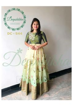 16 ideas for dress pattern simple products Kalamkari Dresses, Ikkat Dresses, Churidar Designs, Lehenga Designs, Hippie Festival, Saris, Long Dress Design, Designer Anarkali Dresses, Kaftan