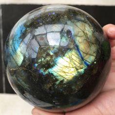 BEST! TOP!! 1272g NATURAL Labradorite Crystal sphere ball Orb Gem Stone 2.23-45