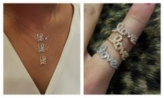 New love necklaces & love rings!