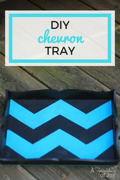 Looking for a simple project to do? Like chevron stripes? This DIY chevron tray is easy to do, and turns out so cute. Come check it out