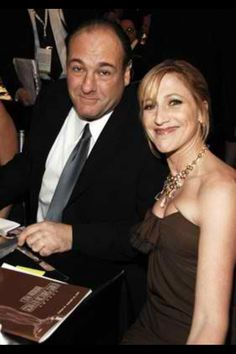 James Gandolfini and Edie Falco.. two beautiful and very special friends Edie and Jimmy..xoxoDonna