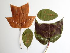 7 fabulous autumn leaf crafts to make today! Fruit Crafts, Leaf Crafts, Tree Crafts, Easy Fall Crafts, Fall Crafts For Kids, Crafts To Make, Kids Crafts, Conkers Craft, Mustache Cards