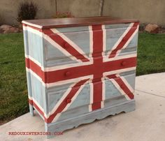 Union Jack furniture redo-maybe an american flag next?