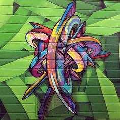 """crossconnectmag: """" The Apex (b. 1978, San Francisco, CA), also known as Ricardo Richey, is a street artist who creates colorful abstract patterns through the use of spray paint. Part of the Gestalt..."""