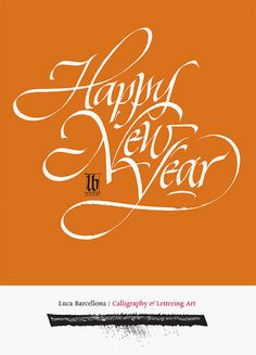Luca B. Happy New Year calligraphy