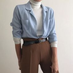 Will fit S/L depending on styling. Styled with caramel high waisted trousers. Never worn, Adrette Outfits, Retro Outfits, Cute Casual Outfits, Vintage Outfits, Fashion Outfits, Fashion Pants, Aesthetic Fashion, Look Fashion, Aesthetic Clothes