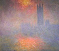 Claude Monet, Londres, le Parlement. Trouée de soleil dans le brouillard