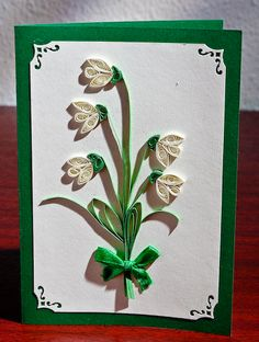 snowdrops - another project suitable for beginners