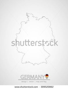 map design of germany, vector illustration, graphic design, location germany, map germany - stock vector