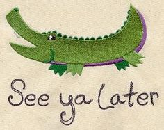 Hey, I found this really awesome Etsy listing at https://www.etsy.com/listing/176835567/see-ya-later-alligator-childrens-t-shirt