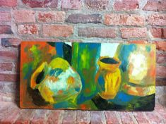 Beautiful Original Abstract Painting  Still by BarefootDwelling, $136.00