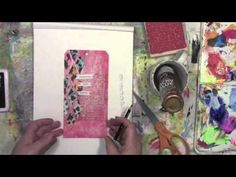 Stencil Play with StencilGirl's Flower Part 2 with Carolyn Dube - YouTube