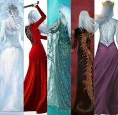 Throne of Glass series back covers