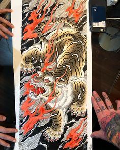 Second submission for FRIDAY November at Tiger Tattoo Design, Tattoo Designs, Japanese Tiger, Japanese Tattoo Art, Japanese Design, Silk Painting, Submissive, Top Artists, Tattoos