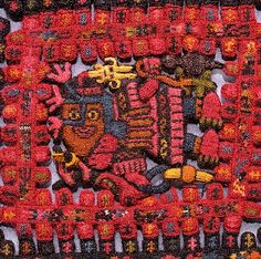 "An extraordinary textile from a burial in Paracas, Peru  (about 700 BC to 100 AD, the ""early horizon."".) Click to get a larger picture. Repinned by Elizabeth VanBuskirk, author of ""Beyond the Stones of Machu Picchu,"""