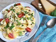 Ulta nemme middagsret, som ben som voksne spiser med største glæde. Pasta, ricotta, citron.  Easy peasy ☺️