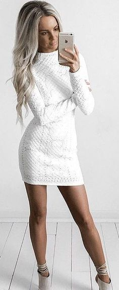 #summer #style |Windsor Store  Dress: This White Stones Dress