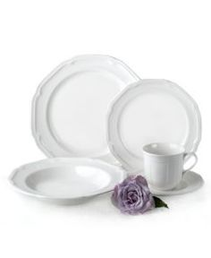 Mikasa Antique White China available individual pieces or as a set. Very durable and a perfect palette for your food!