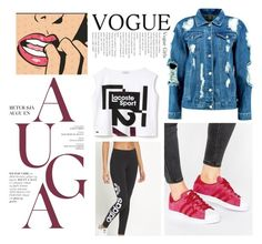 """""""Untitled #5"""" by atharialnasserx ❤ liked on Polyvore featuring adidas Originals, Lacoste, Boohoo and adidas"""
