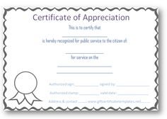 Free certificate of appreciation templates - Certificate Templates