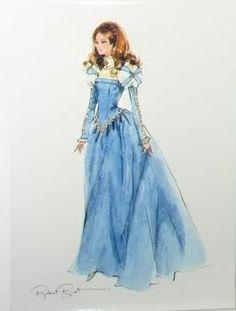 Renaissance Faire Barbie Sketch by Robert Best