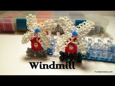 Rainbow Loom WINDMILL Charm. Designed and loomed by Elegant Fashion 360. Click photo for YouTube tutorial. 03/19/14