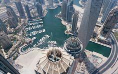 Dubai Marina As Seen From the Princess Tower