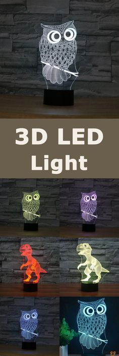 40%OFF. US$19.99+Free shipping. Owl 3D LED Light. 3D design lamp. Made by acrylic. Come and pick at banggood!