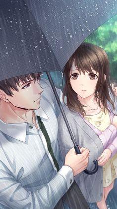 Cute Couple Drawings, Anime Couples Drawings, Anime Couples Manga, Cool Anime Girl, Kawaii Anime Girl, Anime Art Girl, Anime Love Story, Anime Love Couple, Love Cartoon Couple
