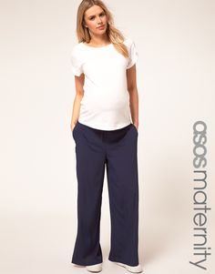 ASOS Maternity Exclusive Pant with Drawstring Waist ( I think I can make these for Morgan)