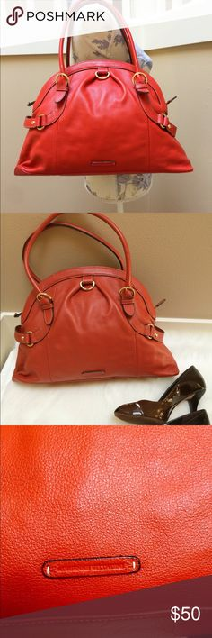 Adrienne Vittadini orange purse handbag Adrienne Vittadini orange handbag purse, genuine leather. Excellent condition! Adrienne Vittadini Bags Shoulder Bags