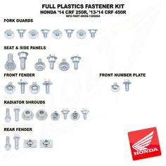 Bolt Plastic Fastener Kit Honda CRF 250 14-Current