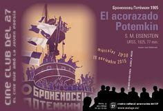 """Publicidad Generación del 27 Cine club del 27. """"El acorazado Potemkin""""."""