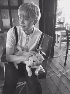 OMFG he's so cute. the dog too
