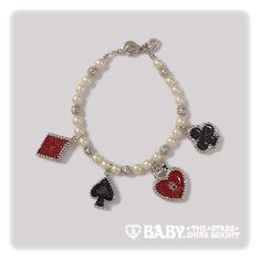 Baby, the Stars Shine Bright: Heart Trump bracelet in silver (prize from 2nd Anniversary party)