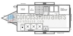 Concession Nation has 7x14 concession trailer floor plans available. Stop by our or site or contact us for information on concession trailer layouts!