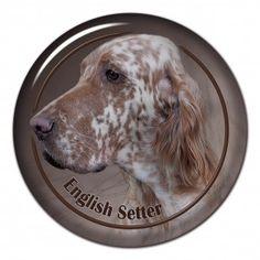 English setter 3D sticker - #englishsetter #setter