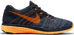 Nike Flyknit Lunar3 Classic (Charcoal, Total Orange) Sz. 10